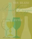 Mid Century Wine 3 Prints by Lola Bryant