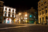 The Square of San Francisco in Old Havana at Night Photographic Print by  Kamira