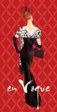 En Vogue Fashion Illustration In Red Prints