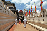 Greatest Buddhists Landmarks - Kandy, Tooth Temple, People Go on Ceremony Photographic Print by  Maugli-l