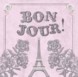 A Pretty & Pink Eiffel Prints by Morgan Yamada