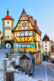 The Most Famous Sight of Rothenburg Ob Der Tauber, Bavaria, Germany Photographic Print by  Zoom-zoom