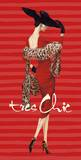 Tres Chic Fashion Illustration In Red Prints
