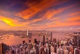 Victoria Harbour Sunset Fotoprint av Kenny Chow Kmdd