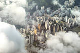 Aerial Image of Buildings in Hong Kong Photographic Print by  xPacifica