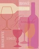 Mid Century Wine 2 Print by Lola Bryant
