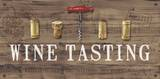 Wine Tasting Reclaimed Wood Sign Art by Anastasia Ricci