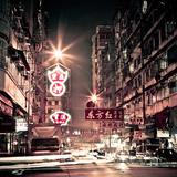 Hong Kong at Night Photographic Print by Andi Andreas