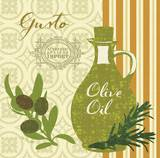 Modern Olive Oil Art by Lola Bryant