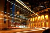 Central Light Trail Photographic Print by Benny Wong Photography