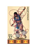 Hoop Dance Print by  USPS
