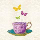 Sunshine Teacup Kunstdrucke von Meili Andel