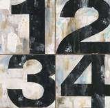 Industrial Chic Numbers Poster by Arnie Fisk