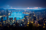 Before Sunrise, the Peak, Hong Kong Photographic Print by Chen Xi