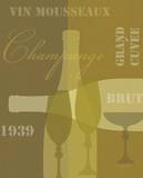 Mid Century Wine 4 Prints by Lola Bryant