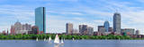 Boston Charles River Panorama with Urban City Skyline Skyscrapers and Boats with Blue Sky. Photographic Print by Songquan Deng