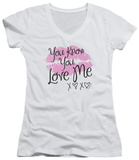 Juniors: Gossip Girl - You Love Me V-Neck Shirt