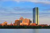 Boston Charles River with Urban City Skyline at Sunset Prints by Songquan Deng
