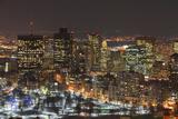 Boston Skyline at Night, Massachusetts, USA Fotografisk trykk av  jiawangkun