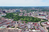 Boston City Aerial View with Urban Buildings and Highway. Posters by Songquan Deng