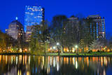 Skyline of Boston, Massachusetts from Boston Public Garden. Photographic Print by  SeanPavonePhoto