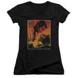 Juniors: Gone With The Wind - Greatest Romance V-Neck T-Shirt