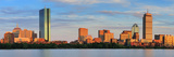 Boston City Skyline with Prudential Tower and Hancock Building and Urban Skyscrapers over Charles R Photographic Print by Songquan Deng