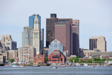 Boston Downtown Urban Architecture with Boat and City Skyline. Print by Songquan Deng