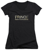 Juniors: Fringe - Fringe Logo V-Neck T-Shirt