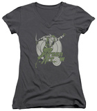 Juniors: Green Arrow - Right On Target V-Neck Shirts