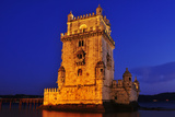 The Belem Tower at Night in Lisbon, Portugal Prints by  nito