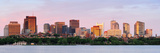 Boston Charles River Sunset Panorama with Urban Skyline and Skyscrapers Prints by Songquan Deng