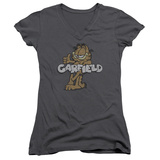 Juniors: Garfield - Retro Garf V-Neck Shirt