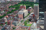Boston Downtown Aerial View with Historical Architecture, Street and City Skyline. Print by Songquan Deng