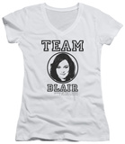 Juniors: Gossip Girl - Team Blair V-Neck Shirts