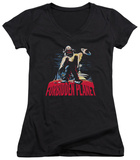 Juniors: Forbidden Planet - Robby And Woman V-Neck T-shirts
