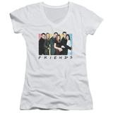 Juniors: Friends - Cast Logo V-Neck T-Shirt