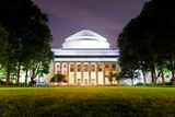 Boston Massachusetts Institute of Technology Campus with Trees and Lawn at Night Photographic Print by Songquan Deng