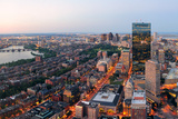 Urban City Aerial Panorama View. Boston Aerial View with Skyscrapers at Sunset with City Downtown S Posters by Songquan Deng