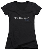 Juniors: Frasier - I'm Listening V-Neck Shirts