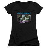 Juniors: Galaxy Quest - Cute But Deadly V-Neck Shirts