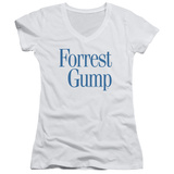 Juniors: Forrest Gump - Logo V-Neck T-shirts