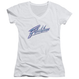 Juniors: Flashdance - Logo V-Neck Shirt
