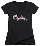 Juniors: Grease - Oh Sandy V-Neck Womens V-Necks