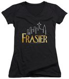 Juniors: Frasier - Frasier Logo V-Neck T-shirts