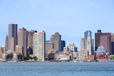 Boston Waterfront View with Urban City Skyline and Modern Architecture over Sea. Photographic Print by Songquan Deng