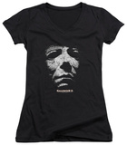 Juniors: Halloween II - Mask V-Neck Shirt