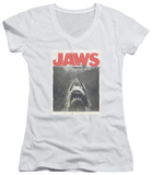 Juniors: Jaws - Classic Fear V-Neck Shirts