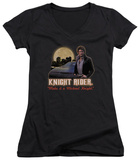 Juniors: Knight Rider - Full Moon V-Neck Womens V-Necks