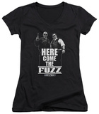 Juniors: Hot Fuzz - Here Come The Fuzz V-Neck Womens V-Necks